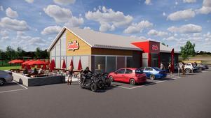 Så här är det tänkt att den nya restaurangen ska se ut. (Bild: Sibylla)