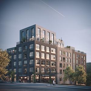Så här var det tänkt att se ut när det skulle byggas ett hus med bostadsrätter. Hur det nya lägenhetshuset ska se ut är ännu inte klart – men det blir ungefär samma proportioner, berättar affärsutvecklaren Thomas Eriksson. Bild: Corner Property Partners