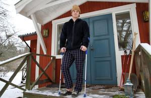 Knäskadan innebär att Johan Hagberg missar chansen att ta en JVM-medalj. Nästa år väntar seniorklassen.