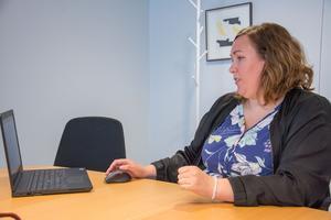 Emma Ödeen är samordnare för bygglov i Östersunds kommun. Det nya digitala systemet har snabbat på processen: