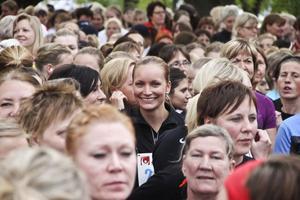 Noomi Waage satsade hårt, och sprang de fem kilometerna på 26 minuter och fem sekunder.