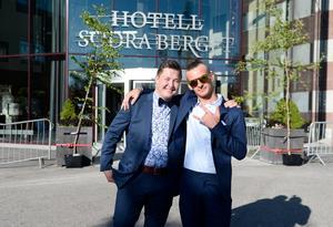 Bröderna Edvin Eriksson och Jocke Eriksson.