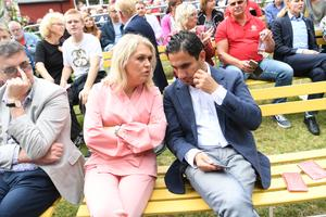 Civilminister Ardalan Shekarabi (S) och socialminister Lena Hallengren (S) smider planer för det kommunala utjämningssystemet. Foto: Fredrik Sandberg/TT