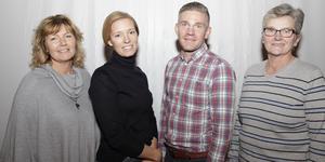 Stina Hedengran, Ellen Weinemacher, Markus Weinemacher och Doris Eliasson berättade om den nya läkarmottagningen på en informationsträff på Folkets hus i Lillhärdal på måndagen.