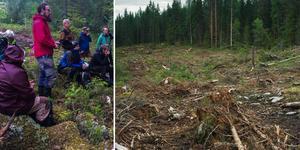 Föreläsningen hölls i skogen, tio minuters bilresa öster om Ljusdal.