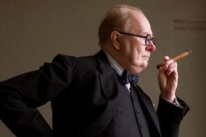 Gary Oldman som Winston Churchill i filmen Darkest hour.Foto:  AP/Jack English