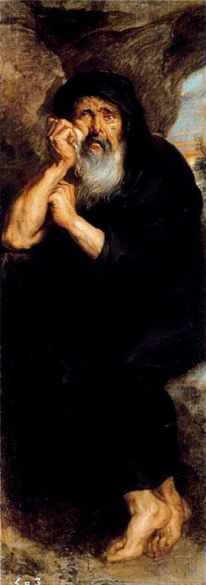 Herakleitos. Målning av Peter Paul Rubens från 1603.