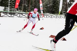 Tove Ericsson på tävlingen Södra berget runt 2016.