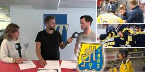 Anna Svedberg, Andreas Hanson och Jacob Sjölin snackar SSK.