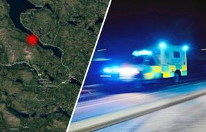 Olyckan inträffade i Huså. Bild: Montage Google Maps/Arkivbild Robbin Norgren