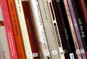 Böcker på bibliotek. Foto: Thomas Brandt