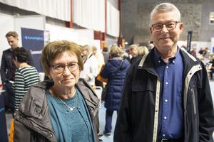 Irene och Olle Hagner besökte mässan även förra året.