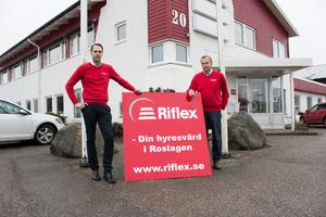 Jan Hagman, till höger, startade Riflex 1974. Nu går han vidare med sitt nya bolag, Rimbohus AB.