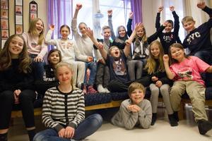 Klass 5B på Öjeskolan är klart för semifinal.