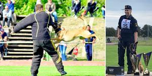 Elin Bålefalk och hunden Lymla hamnade högst på prispallen.
