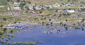 Södra Afrika har drabbats av enorma översvämningar. Foto: Läkare utan gränser/AP/TT