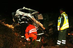 Två personer omkom i en tågolycka utanför Horndal under söndagskvällen.