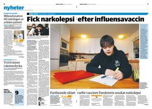 I januari 2012 berättade Lisa, då 15 år gammal, om sin narkolepsi.