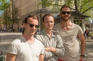 Rasmus Billman, Robin Billman och Kristoffer Vestin, Sundsvall: