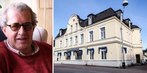 Richard Hichens-Bergström kritiserar nedläggningar av service på landsbygden, apropå Handelsbankens besked att 180 av deras kontor ska stängas runt om i landet.