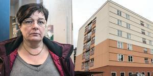 """Ulrika Wiklund har följt sin mosters omsorg på Herrhagsgården. Hon är kritisk mot villkoren. """"Personalen sliter men hinner inte med."""""""