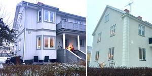 Per Olovsgatan 10, till vänster, såldes för 8,2 miljoner kronor. En bit bortpå gatan ligger Per Olovsgatan 1, som såldes för exakt samma pris.