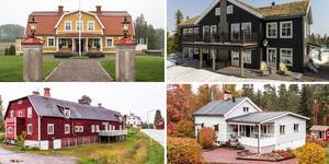 Fyra av fastigheterna på Klicktoppen vecka 41. Foto: Johan Spinnell, Johan/Husfoto, Kristofer Skogh/Husfoto