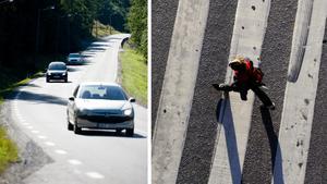 Skribenten vill att det ska finnas ett övergångsställe över väg 86. Bilder: Håkan Humla / Henrik Montgomery/TT