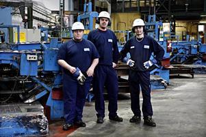 André Hansen, Mattias Granath och Andreas Mossberg applåderar inte Metalls avtal om lönesänkning, men allt är bättre än att gå hem.