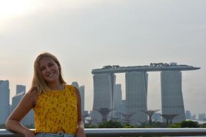 Olivia Möller satte sig sommaren 2018 på flyget till Singapore. Foto: Privat