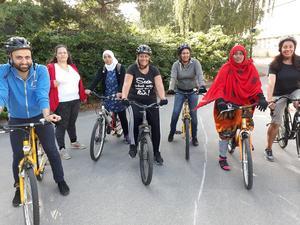Den 26 augusti startar en ny cykelkurs för vuxna nybörjare. Foto: Lennart Thunqvist