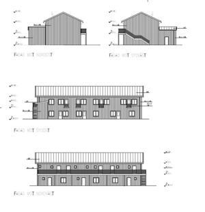 Bygglovet för OLM Fastigheter Gagnef AB:s att bygga ett flerbostadshus med åtta hyresrätter i villaområdet i centrala Djurås har överklagats. Skiss: Arcon konstruktion & design