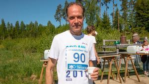 Norbergsbon Anders Lundholm var nöjd med sin springtid men tyckte nästan att det var lite för varmt vissa gånger under loppet.
