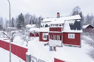 Denna villa i Barkargärdet i Borlänge kom på tionde plats på Klicktoppen för vecka 8. Foto: Husfoto