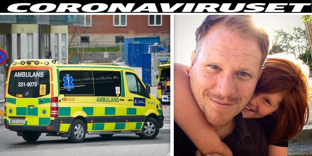 """Andreas, 47, akutvårdades för corona – andades syrgas dygnet runt: """"Vet inte när jag får träffa min familj igen"""" thumbnail"""