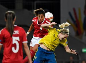 Det var den uteblivna kampen mellan Sverige och Danmark som Sverige tilldömdes segern i.