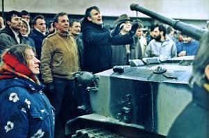 Med sina kroppar försökte litauerna stoppa Sovjetunionens stridsvagnar i januari 1991. 14 personer dog.