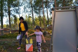 Söderhamns OK hade ungdomsträning på måndagen vid klubbstugan. Det var klubbmästerskap för alla barnen och alla som kom i mål fick en medalj.