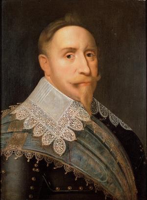 Gustav II Adolf 1624. Målning av Jacob Hoefnagel.