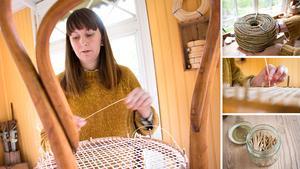Det växande intresset för rottingmöbler har gjort att Hanna Lundin – som flätar rotting för hand – knappt hinner med. Därför utökar hon nu med en ny verkstad.