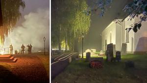 """Kyrkoheden i chock efter storbranden: """"Det är fruktansvärt"""""""