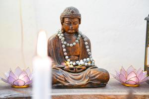 I den återhämtande, balanserande yogan har Tanja Dyredand hittat vägen till ett liv utan stress.