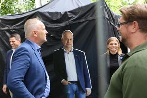Jonas Sjöstedt, partiledare Vänsterpartiet, besökte Örebro för att valtala dagen före valet.