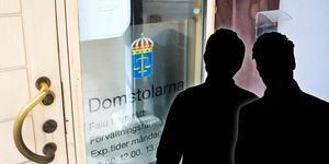 Två män i 20- och 25-årsåldern har häktats misstänkta för rån.