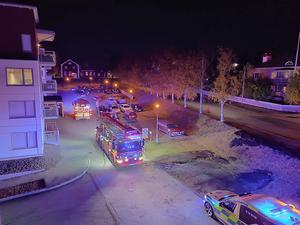 Räddningstjänst och ambulans åkte ut till platsen.