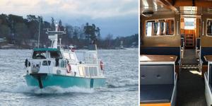 Från och med i maj kan en ny passagerarfärja trafikera mellan Sundsvall och Alnö. Ett Sydafrikanskt rederi har kommit långt i planeringen.  Bild: Pressbild