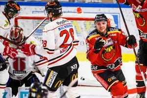 Robin Kovacs kvitterade till 2–2 för Luleå. Bild: Simon Eliasson/Bildbyrån