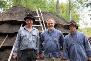 Ulf Sandström, Lars Andersson och Åke Agneflo. Ulf Sanström är ordförande i Östra Sörmlands Gruvförening, en post som både Lars och Åke också suttit på.