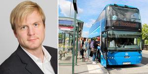 Foto: Region Stockholm/ NT. Tomas Eriksson (MP) vill tillsammans med den blågröna koalitionen höja priset på SL-kort.