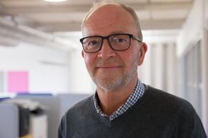 Göran Lundmark ägde tidigare en butik, men bytte bransch och är nu kontorsansvarig i Söderhamn.